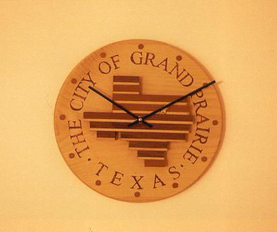 small pine & redwood conference room clock