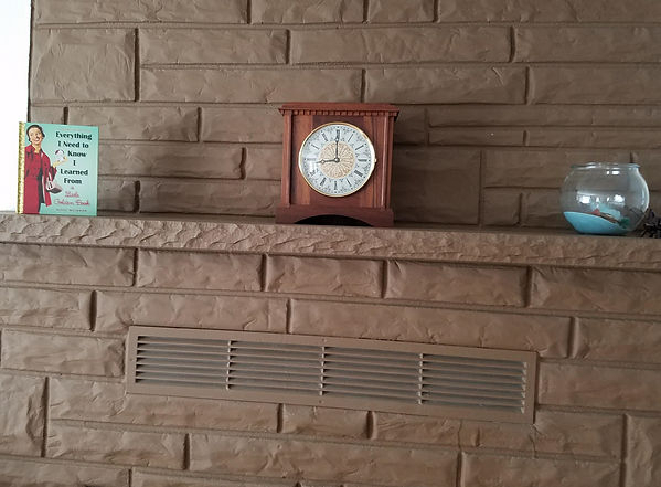 traditional wanut mantel clock in its new home