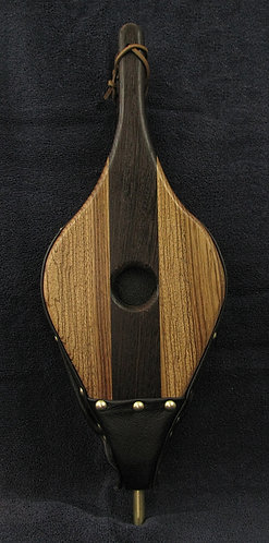 Wenge and Zebrawood Fireplace Bellows