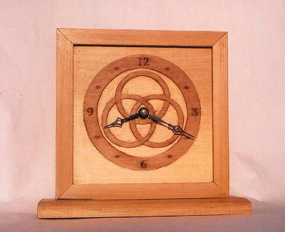 western red cedar three ring clock