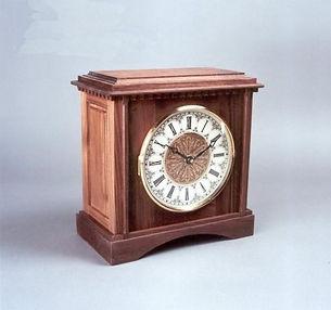 traditional walnut mantel clock