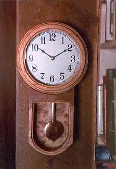 douglas fir burl wall clock