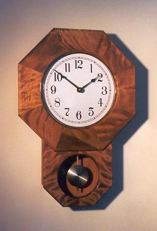 quilted birch schoolhouse clock