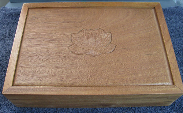 mahogany shrine box-lotus