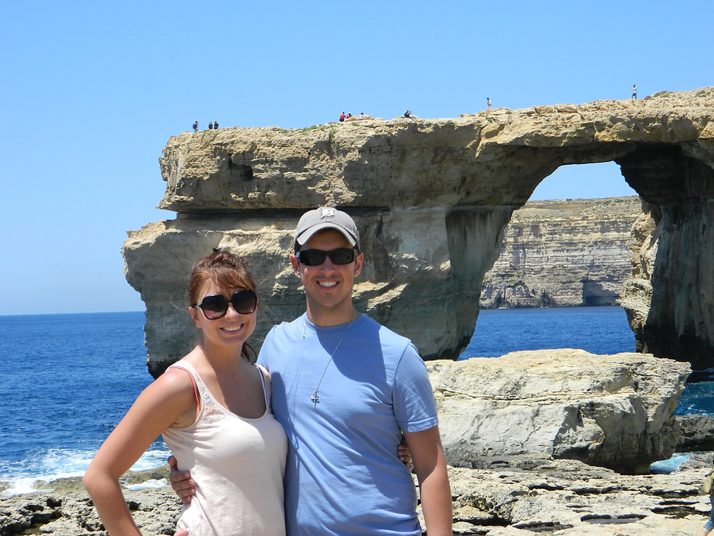 Amanda and I at the Azure Window, 2013