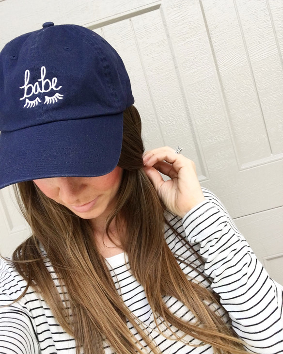 'Babe' Hat & Stripes