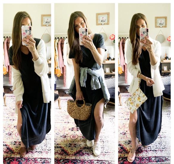 One Maxi Dress, 3 Ways!