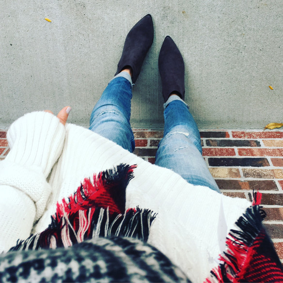 Thee Reversible Plaid Scarf