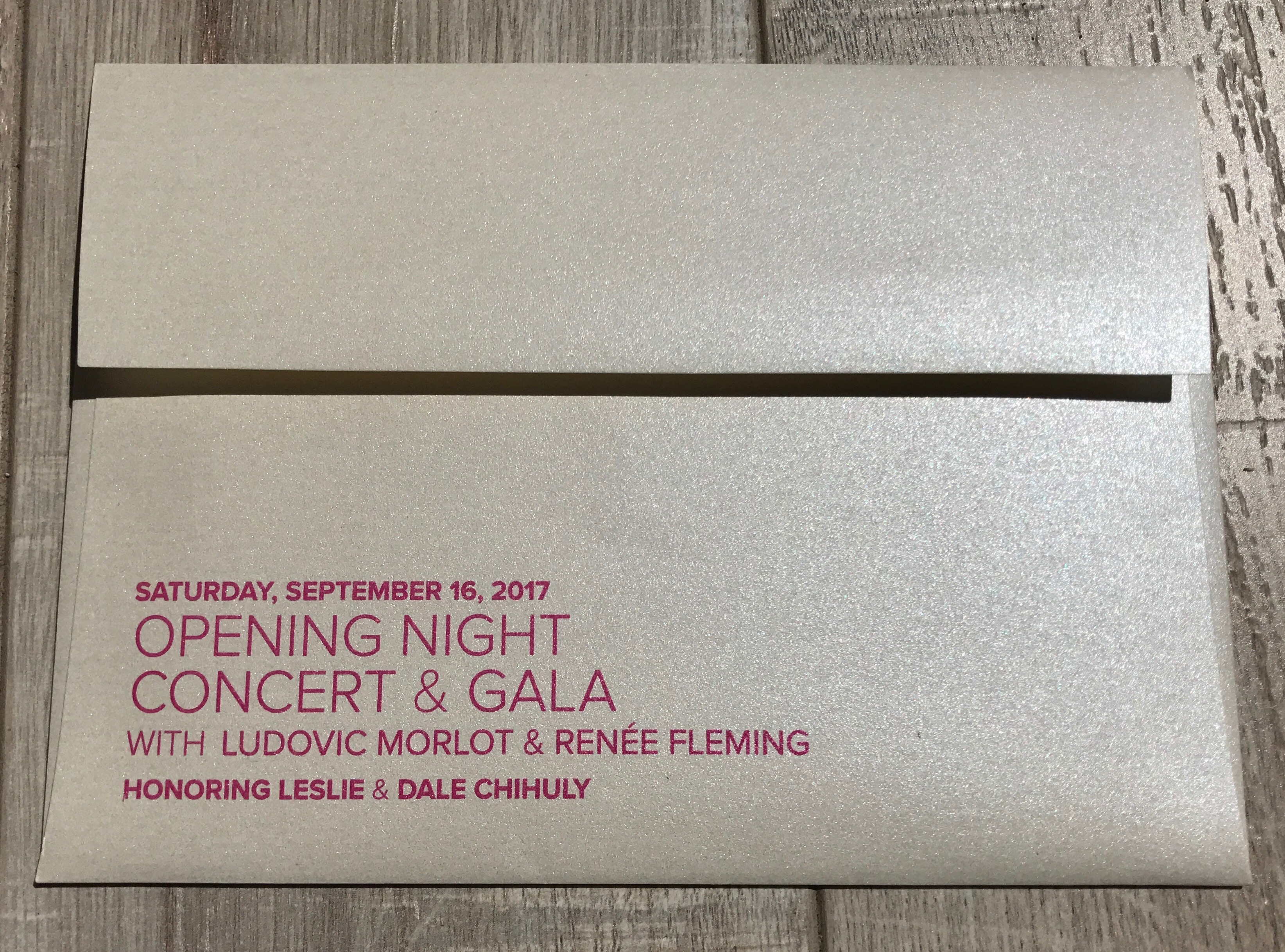 Opening Night Gala Invite