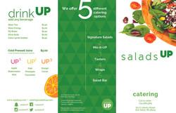 Salads Up Menu Cover