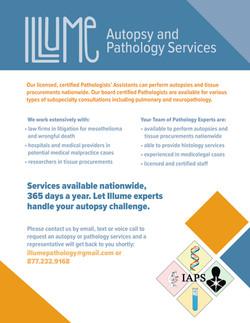Illume Autopsy Pathology Services Flyer