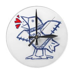 Bluebird Heartsong clock