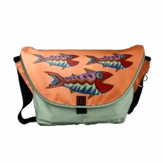 Folk Art Fish tote bag