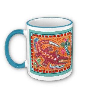 Folk Art Gator mug