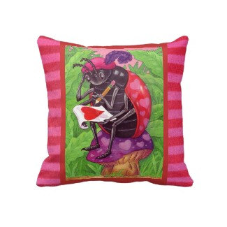Ladybug Lovenote pillow
