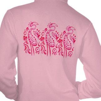 Paisley Flamingo women's zip jacket