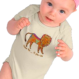 """Tame Me"" lion baby shirt"