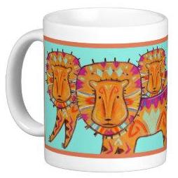 Curious Lion mug