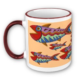 Folk Art Fish mug