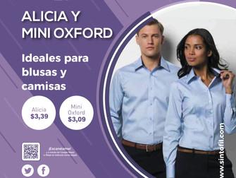 ALICIA Y MINI OXFORD (Actualización de Precios)