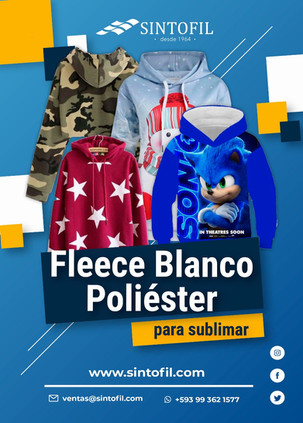 FLEECE PERCHADO PARA SUBLIMAR