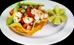 shrimp-tostada