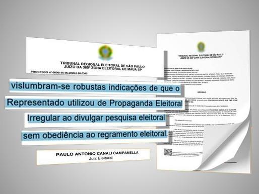 Justiça determina que Marcelo Oliveira suspenda pesquisa do Abc dados
