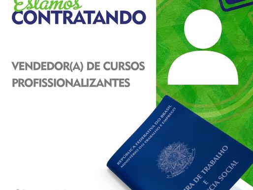 GRUPO G&V Contrata: Vendedor(a) de Cursos Profissionalizantes