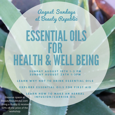 Essential oils for health and well being
