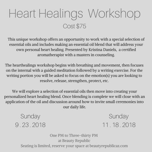 heart healings description for workshop.