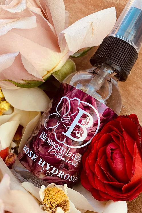 Rose Hydrosol 2 oz  by Blossomland Botanicals