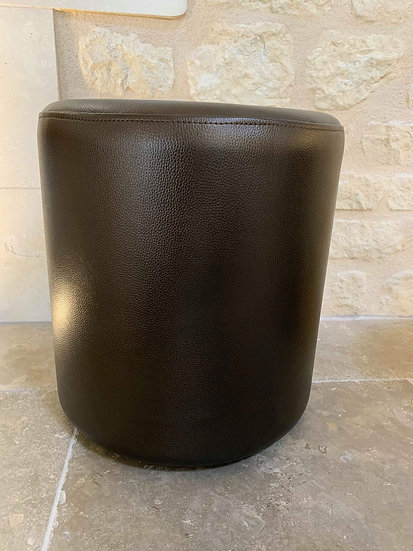 Pouf leather bison