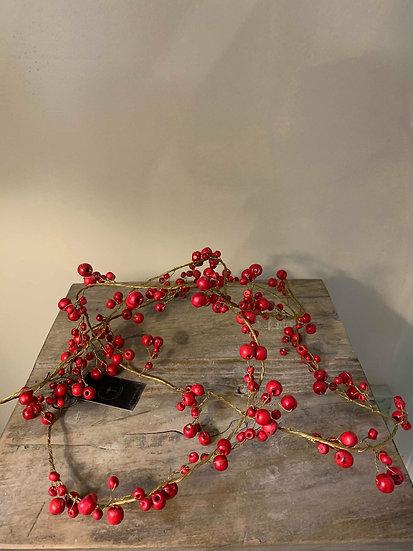 Guirlande baies rouges