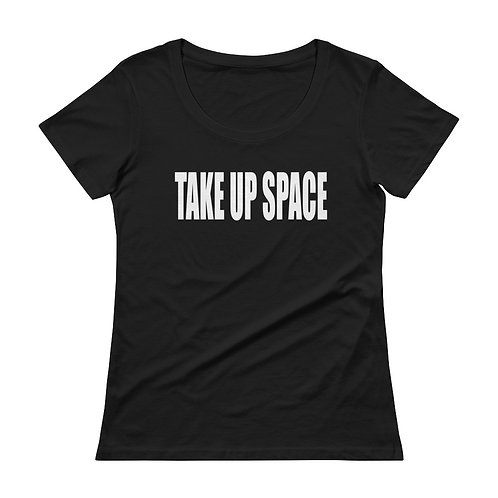TAKE UP SPACE classic tee - black