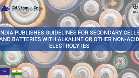 India Publishes Guidelines for Secondary Cells and Batteries with Alkaline or Other Non-Acid Electro