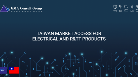 Taiwan Market Access for Electrical and R&TT Products