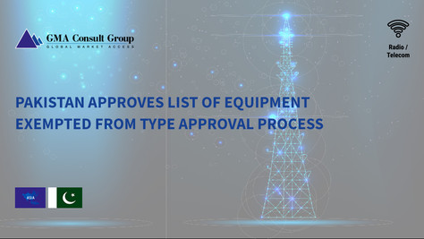 Pakistan Approves List of Equipment Exempted from Type Approval Process