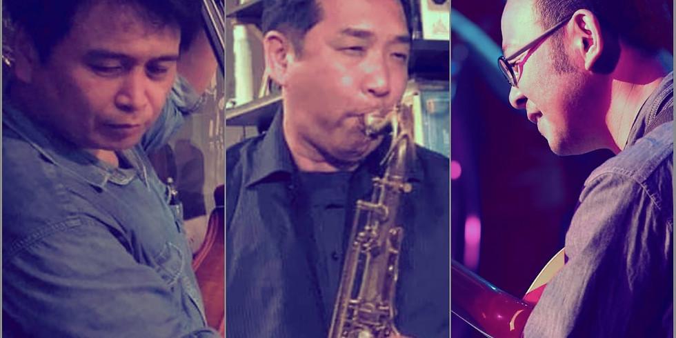 <延期>Sax神田隆一/guitar松岡徹/bass楢崎勝弘【南船場 de Jazz】at 伽琉駝門cafe~Live&Session~