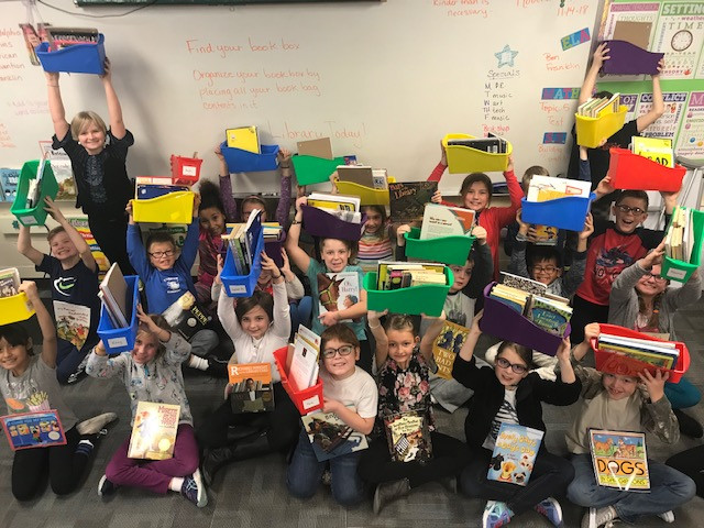 """My class and I want to thank you for your generous donation to our classroom,  We appreciate your kindness, and the award that allowed us to get so many new books and book boes.  Here is a picture of everything we received.  Thanks again!! """