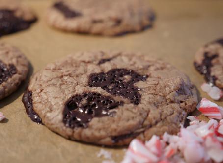 Fudgy Triple Chocolate Cookies