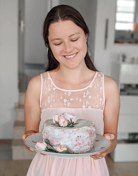 Porträt mit Torte