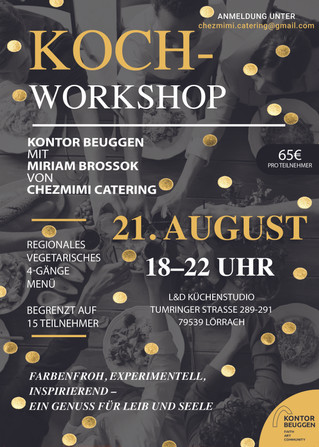 Kochworkshop mit Chez Mimi Catering 21.August 2020