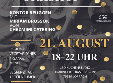 Kochworkshop mit Chez Mimi Catering 21.August 2020