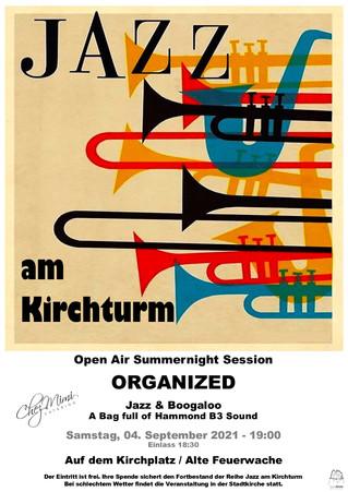 Jazz am Kirchturm 4. September 2021 mit Chez Mimi Catering