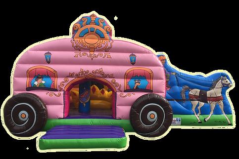 springkasteel prinsessenkoets