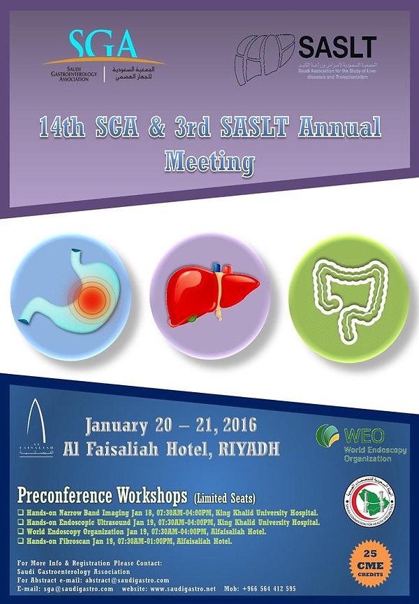 Saudi Association for the Study of Liver Disease and Transplantation SASLT SDDF2016