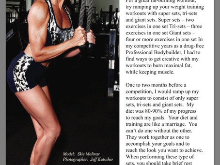 Ramp up your workouts and maintain muscle