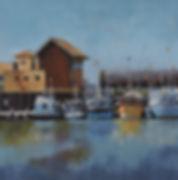 Alongside the Fish Market, Acrylic, 16x1