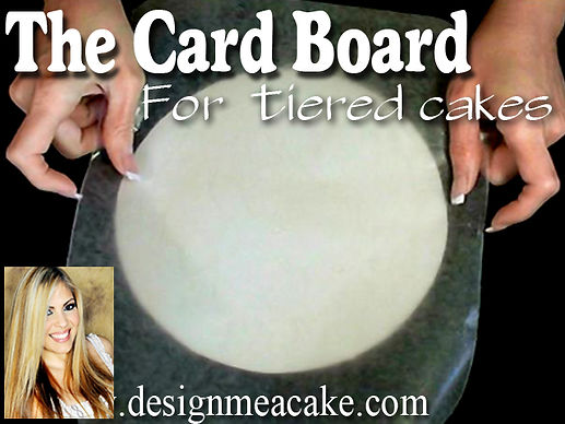 Learn how to prepare the card board for tier cakes