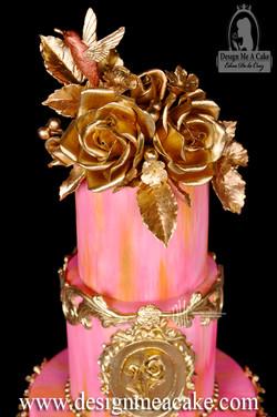 Gumpaste Golden Roses